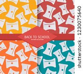 set back to school seamless... | Shutterstock .eps vector #1230075640