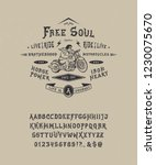 font free soul. hand crafted... | Shutterstock .eps vector #1230075670