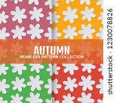 set autumn seamless pattern... | Shutterstock .eps vector #1230078826