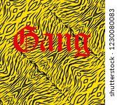 seamless yellow wild animal of... | Shutterstock .eps vector #1230080083
