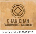 chan chan  peru   october 2 ... | Shutterstock . vector #1230085696