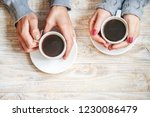 cup drink for breakfast in the... | Shutterstock . vector #1230086479