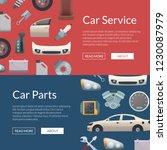 vector car parts web banner...   Shutterstock .eps vector #1230087979