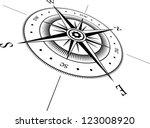 black wind rose on white... | Shutterstock .eps vector #123008920