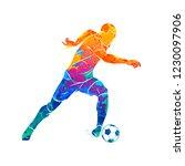 abstract soccer player running...   Shutterstock .eps vector #1230097906