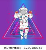 illustration of cosmonaut on a ...   Shutterstock .eps vector #1230100363