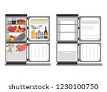 filled with food and empty... | Shutterstock .eps vector #1230100750