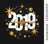 2019 happy new year background. ... | Shutterstock .eps vector #1230103429