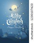 vector winter night scene with... | Shutterstock .eps vector #1230107623