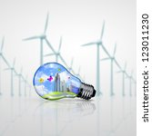 green energy symbols  ecology... | Shutterstock . vector #123011230