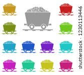 coal trolley icon in multi...