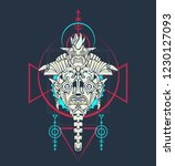 sacred geometry design with... | Shutterstock .eps vector #1230127093