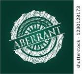 aberrant written on a blackboard | Shutterstock .eps vector #1230128173