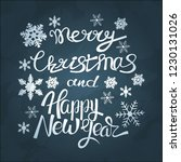 merry christmas and happy new... | Shutterstock .eps vector #1230131026