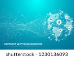 global structure networking and ... | Shutterstock .eps vector #1230136093