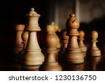 antique wooden chess board... | Shutterstock . vector #1230136750
