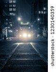 toronto streetcar on winter... | Shutterstock . vector #1230140359