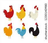 Chickens Vector Illustration I...