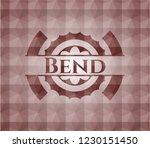bend red geometric emblem....   Shutterstock .eps vector #1230151450