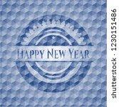 happy new year blue polygonal... | Shutterstock .eps vector #1230151486