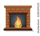 fireplace icon isolated.... | Shutterstock .eps vector #1230154123