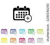 an illustrated icon in an array ... | Shutterstock .eps vector #1230156250