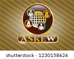 gold shiny emblem with social... | Shutterstock .eps vector #1230158626
