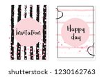 bridal shower set with dots and ... | Shutterstock .eps vector #1230162763