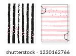 bridal shower set with dots and ... | Shutterstock .eps vector #1230162766