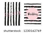 bridal shower set with dots and ... | Shutterstock .eps vector #1230162769