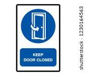 keep door closed symbol sign ... | Shutterstock .eps vector #1230164563