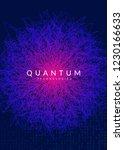 quantum computing background.... | Shutterstock .eps vector #1230166633