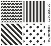 tile vector pattern set with... | Shutterstock .eps vector #1230166720