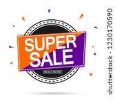 super sale  banner design... | Shutterstock .eps vector #1230170590
