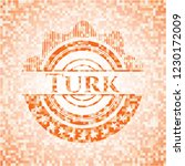 turk orange tile background... | Shutterstock .eps vector #1230172009