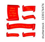 set of red merry christmas... | Shutterstock .eps vector #1230176476