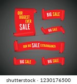 our big sale set of red banners | Shutterstock .eps vector #1230176500