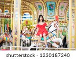 young beautiful asian lady is...   Shutterstock . vector #1230187240