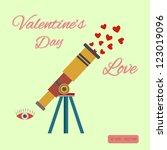 valentine concept | Shutterstock .eps vector #123019096