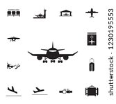 plane front view icon. set of... | Shutterstock . vector #1230195553