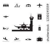 aircraft in airport icon. set... | Shutterstock . vector #1230195559