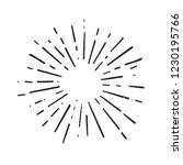vintage doodle sunburst... | Shutterstock .eps vector #1230195766