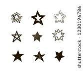 set of black hand drawn vector... | Shutterstock .eps vector #1230196786