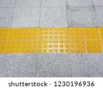 tactile paving for blind people | Shutterstock . vector #1230196936