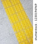 tactile paving for blind people | Shutterstock . vector #1230196969