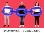 business team with a connected... | Shutterstock . vector #1230205393