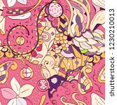 tracery seamless pattern.... | Shutterstock .eps vector #1230210013
