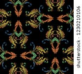 embroidery baroque vector... | Shutterstock .eps vector #1230210106