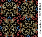 embroidery baroque vector... | Shutterstock .eps vector #1230210169