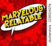marvelous relatable   vector... | Shutterstock .eps vector #1230214276